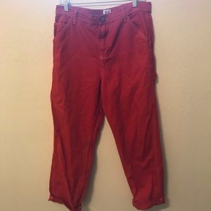 BDG Red Painter Style Pants